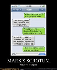 MARK'S SCR*TUM (Chikkenburger) Tags: posters memes demotivational cheezburger workharder memebase verydemotivational notsmarter chikkenburger