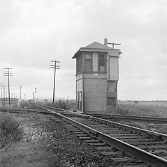 [Texas and New Orleans, Southern Pacific, Tower No. 63, Mexia, Texas] (SMU Central University Libraries) Tags: trains sp tno railroads espee railroadsignaltowers