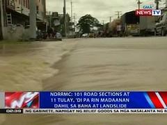 NDRRMC: 101 road sections at 11 tulay, 'di pa rin madaanan dahil sa baha at landslide (thenewsvideos) Tags: road landslide sections baha tulay dahil ndrrmc madaanan