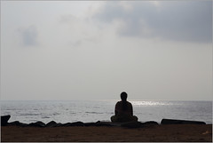 meditation, pondicherry (nevil zaveri (thank you for 10million+ views :)) Tags: ocean sea people woman india nature water clouds skyscape photography photo blog women photographer place photos south stock images minimal photographs photograph zen meditation minimalism zaveri minimalistic tamilnadu pondicherry stockimages nevil pondi puducherry nevilzaveri