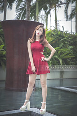 WeiTing (Alphone Tea) Tags: life city travel light portrait woman sunlight black cute sexy girl beautiful lady wonderful print landscape evening amazing model eyes singapore colorful asia pretty slim dress photoshoot legs bright sweet bokeh modeling outdoor album great young makeup like event attractive handheld heel noon lovely sexylegs mbs facebook 6d marinabay 2015 2470 atphotography ef2470mmf28liiusm