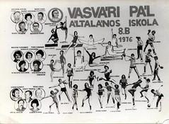 Vasvri 8.b 1976 tabl (antallajos) Tags: floor artistic beam gymnast gymnastics vault torna 1976 balancebeam turnen gymnastik gymnastique  voimistelu dunajvros unevenbars tabl   gimnastyka vasvri tornsz testnevels evaovari vriva