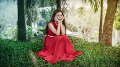 Wei Ting in the forest 3 (Khor Yong Hau) Tags: red forest weiting