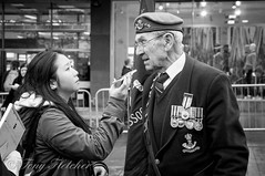 'HERO'S INTERVIEW' - 'REMEMBRANCE DAY - BARKERS POOL SHEFFIELD' - 'NOVEMBER 2015' (tonyfletcher) Tags: day remember we will remembranceday remembers lest remembranceday2015 themremembrance sheffieldpoppyveteranarmyworld warconflictmedalbraveryrespectuniformsheffield forgetwe