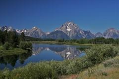 Small lake in Grand Teton Park, Wyoming (OttawaRocks) Tags: usa lake mountains reflection us wyoming grandtetonnationalpark