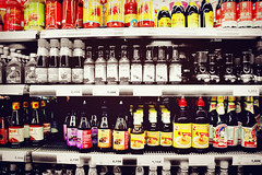 Hamburg, Germany (2015) (#Rees) Tags: bw food color colors shop shopping germany asian colorful europe sauce hamburg supermarket aisle artsy hungry spicy asianfood shelves colorsplash sauces siracha