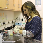 Student working on a lab.