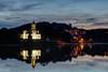 Reflejos en Niembru (chuscordeiro) Tags: sunset canon atardecer mar agua pueblo asturias agosto cielo 7d vacaciones ria llanes 1755 cantabrico igleisa niembru