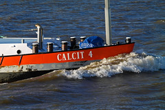 MTS Calcit 4 - MotorTankSchip (Eduard van Bergen) Tags: bridge blue trees sky orange white green reed water netherlands dutch yellow river germany boat wings waves tank outdoor flag ships 4 nederland skipper bank boote wash bow captain vehicle abc meander sailor hull mate riverbank upstream rhine stern beacon 50200mm tanker schiffe mts 1964 lek niederlande rijkswaterstaat daf rivier downstream rws tankship calcit marifoon samsungnx dgsm mariphone