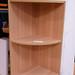 Small oak corner shelf unit