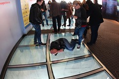 Pose to be Acrophobia (daveynin) Tags: cntower floor humor behavior attraction skyview acrophobia glassfloor