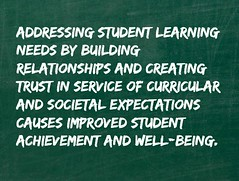 Educational Postcard: Working to improve student achievement (Ken Whytock) Tags: student achievement trust service relationships improved wellbeing