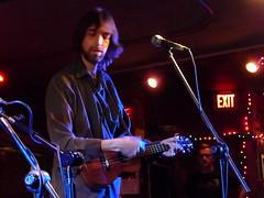 Tim Mann of The Greg Hawkes Trio at Johnny D's (wildukuleleman) Tags: ukulele noir greg hawkes trio tim mann rick russo craig robertson somerville massachusetts johnny ds wildukuleleman
