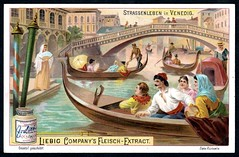 Liebig Tradecard S686 - Street Scene in Venice, 1901 (cigcardpix) Tags: vintage advertising ephemera liebig chromo tradecards