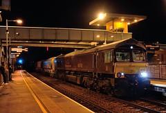 66-743-6M05-Coleshill-7-12-2016 (D1021) Tags: shed class66 66743 gbrf 6m05 stone nikond700 d700 coleshill coleshillparkway night nightshot royalscotsman