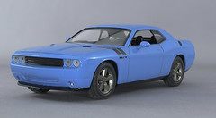 2009 Dodge Challenger Petty Blue 2-2 (rbungay@rogers.com) Tags: 2009dodgechallenger amt125modelcar musclecar mopar bluecar gravitycolorspettyblue