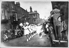 (shoot what you see) Tags: candid parade scanned street risqué morrisdancers 1950s film ilford