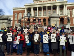 What Democracy Looked Like (circa 2016) (Christina Davis) Tags: antitrump defenddemocracy bostonstatehouse bostonprotests whatdemocracylookslike