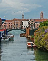 Rio di San Biagio. (caramoul25) Tags: venis e venice venezia pont sanbiagio glycines caramoul25