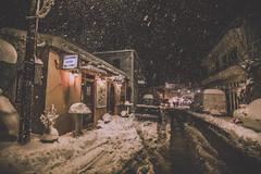 Let it snow (Vagelis Pikoulas) Tags: snow snowing vilia greece europe december winter village 2016 canon 6d tokina 1628mm street road night cold