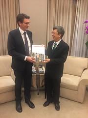 Con il Vicepresidente della Repubblica di Cina (Taiwan) Chen Chien-Jen