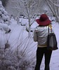 Unprepared (swong95765) Tags: snow woman female lady weather preperations clothes temperature hat