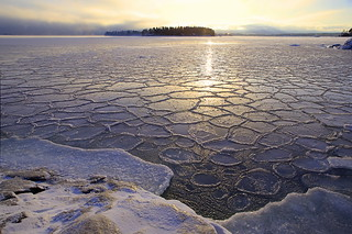 Freezing Baltic Sea