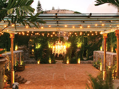Haiku Mill (mjla87) Tags: haiku maui venue evening lights chandelier rocks greenery oasis peaceful beautiful walkway steps natural stones trees destination string fairytale ethereal hanging events rustic