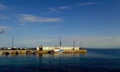 Mondello (dona(bluesea)) Tags: seascape water sea sky boat mondello palermo sicilia italia sicily italy bly blue