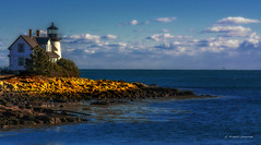 Bar Harbor Light house (G. Russell Jennings) Tags: light house blue ocean rocks landscape outside yellow beach