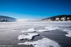Vue sur le lac de Joux gelé (amarona_ch) Tags: lac gelé joux vaud jura suisse paysage glace