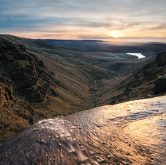 Kinder Downfall (Uldis K) Tags: kinderdownfall kinderscout peakdistrict nationalpark derbyshire sunset hayfield river waterfall mountain mountains pennineway england