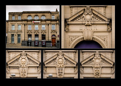 Barnsley in Polyptych (#9) - Natwest Bank Building (S.R.Murphy) Tags: barnsleyinpolyptych barnsley yorkshire england architecture building history heritage classicalarchitecture stuartmurphy fujifilmxt2 bank markethill