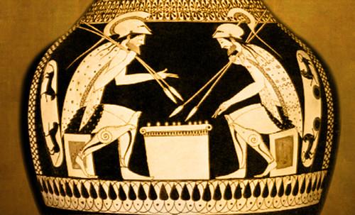 "Petteia - Ludus Latrunculorum  / Iconografía de las civilizaciones helenolatinas • <a style=""font-size:0.8em;"" href=""http://www.flickr.com/photos/30735181@N00/32522192425/"" target=""_blank"">View on Flickr</a>"
