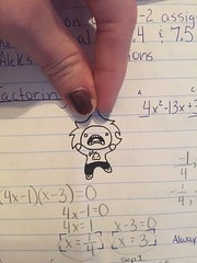 Why You Little --- (NaturalBornFailure) Tags: hand poop small invader drawing ink math pinch pull lift pick danielle hickman doodle micron pen algebra