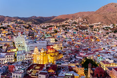 The magical town of Guanajuato, central Mexico (Maria_Globetrotter) Tags: dscf6777lr unesco world heritage site day clear colorful blue hour twilight