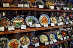 Fake food (Tiigra) Tags: kyōtoshi kyōtofu japan jp kyoto 2012 cafe circle city color object repetition rhythm shape pattern kyotoprefecture