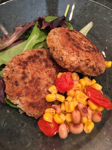 Black-Eyed Pea Cakes with Fresh Corn Salsa