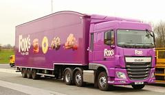 DAF 16XF Fox's Biscuits Batley FG66VDF Frank Hilton IMG_5027 (Frank Hilton.) Tags: classic truck lorry eight wheel maudsley aec atkinson albion leyalnd bristol austin outside heavy haulage crane 8 axle