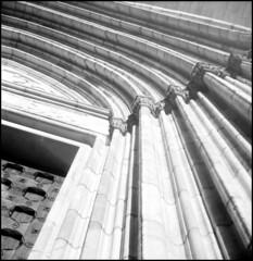 304 Lindar 02 (rubbernglue) Tags: uppsala cathedral church lines bw blackandwhite bwfp filmphotography filmexif analog analogwithexif analogexif artistic 6x6 squareformat boxcamera lindenlindar r09 sweden sverige mediumformat allmycamerasproject