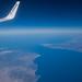 Strait of Gibraltar view from plane - Détroit de Gilbraltar vu d'avion - Estrecho de Gibraltar vist