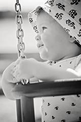 Marre (RobT4L) Tags: ocean summer portrait blackandwhite sun beach monochrome canon photo kid sweden sigma portrtt sigma70200 canon70d