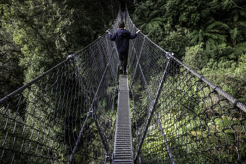 The swing bridge #7, Montezuma Falls, Tasmania's West Coast