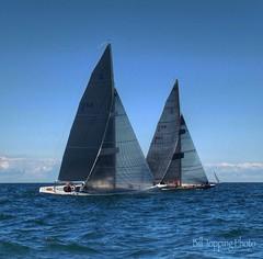 Beating Hard Upwind (Bill Topping) Tags: lake water sailboat landscape sailing racing greatlakes rochester regatta newyorkstate lakeontario yachtclub hamlin sodus sbyc sodusbay soduspoint racecommittee 8meter classicsail r8nationals