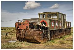 Abandoned Boat on Blakeney Marshes (Digital Wanderings) Tags: old boat rusty marshes blakeney adandoned abandonedboat northnorfolk