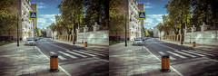 renewed Spiridonovka street (urix5) Tags: road street new city stereoscopic 3d crosseyed russia moscow stereo stereopair ru moskva crossview renewed