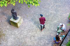 Statues and People (mirsavio) Tags: street people switzerland picnic luzern statues