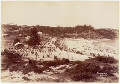 Coogee showing beach, esplanade and trams, c. 1905 / by Star Photo Co. (State Library of New South Wales collection) Tags: trams statelibraryofnewsouthwales