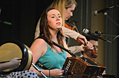 Pamela Geraghty on the accordion
