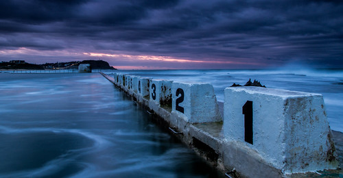 Merewether Baths Swirl Sunset